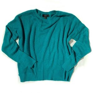 Forever 21 green knit sweater